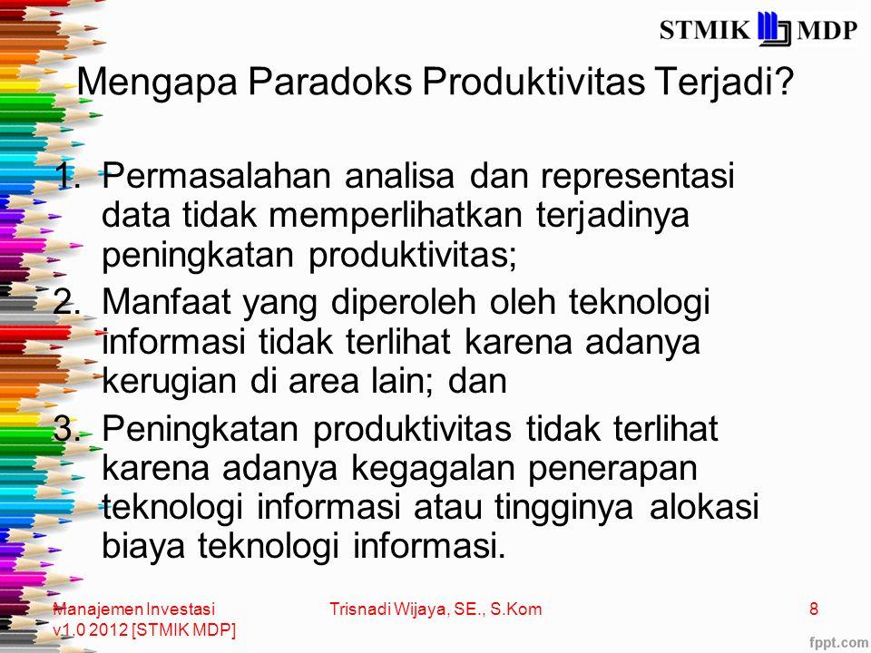 Mengapa Paradoks Produktivitas Terjadi