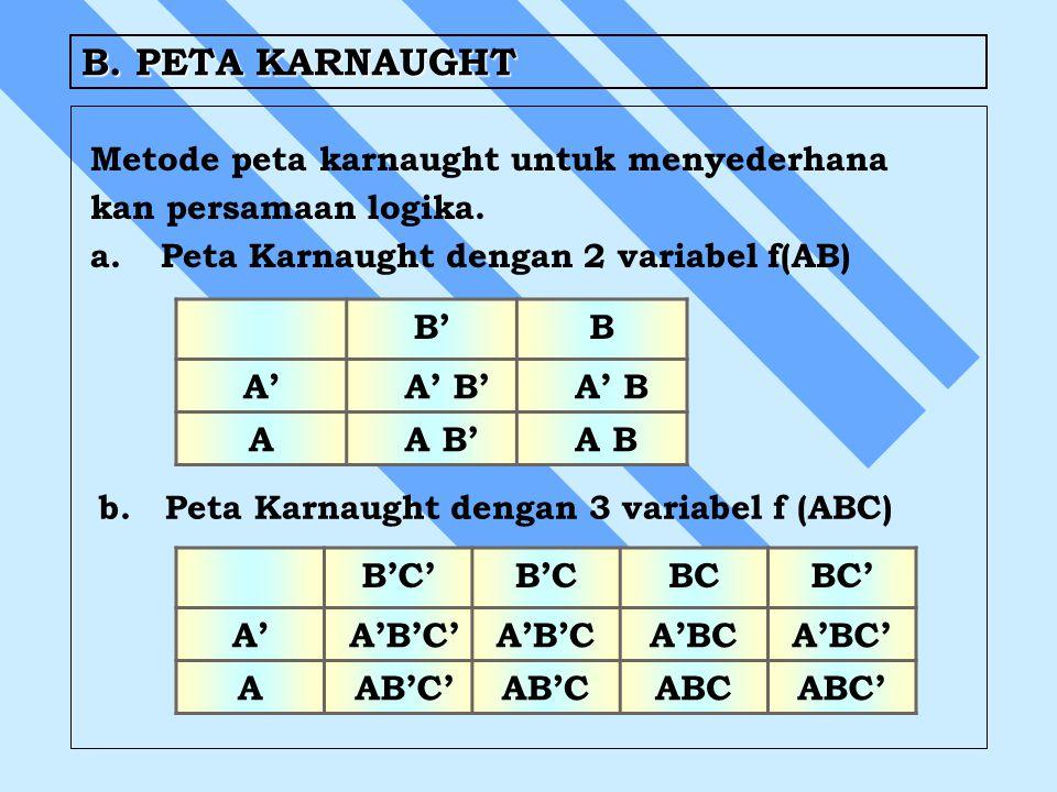 B. PETA KARNAUGHT B' B A' A' B' A' B A A B' A B B'C' B'C BC BC' A'