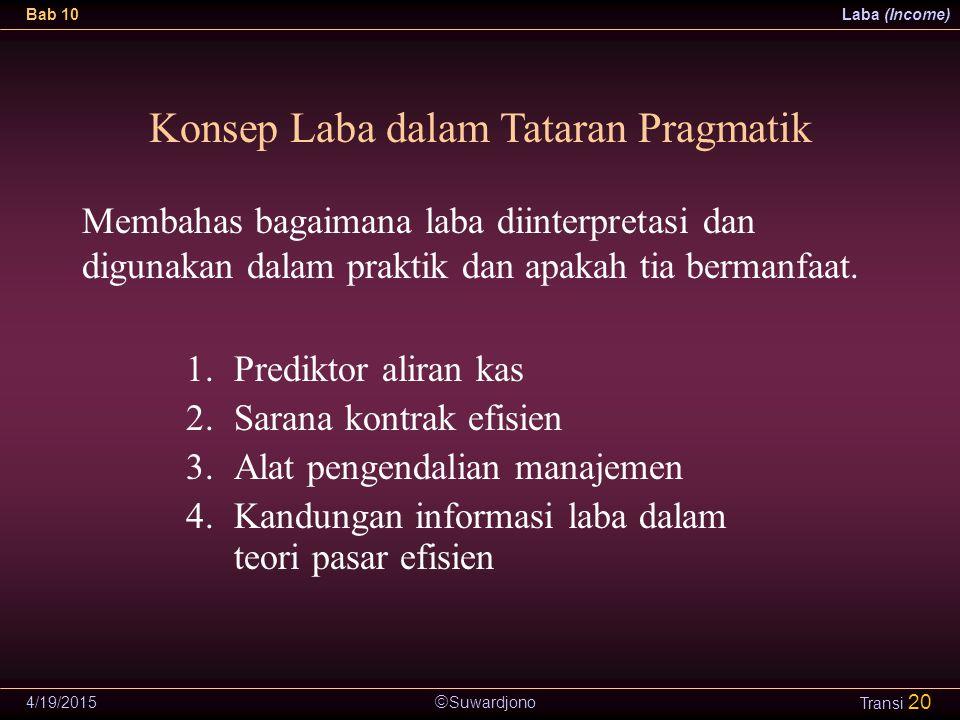 Konsep Laba dalam Tataran Pragmatik