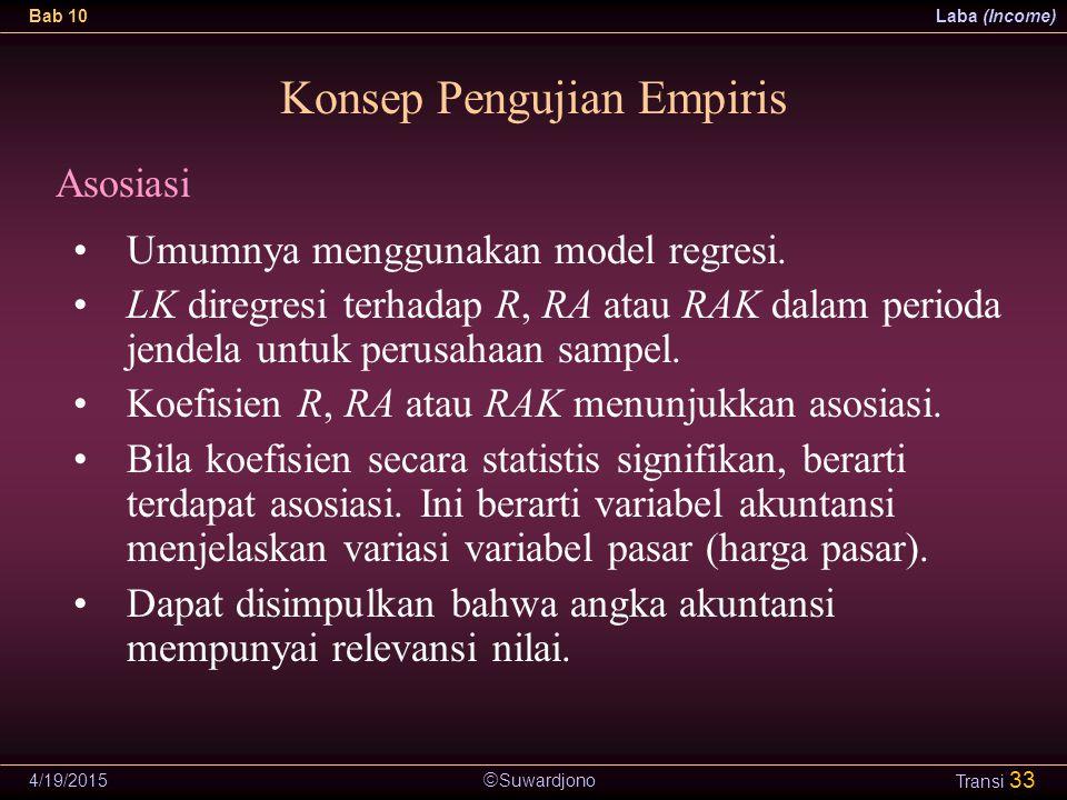 Konsep Pengujian Empiris