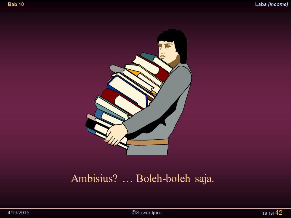 Ambisius … Boleh-boleh saja.