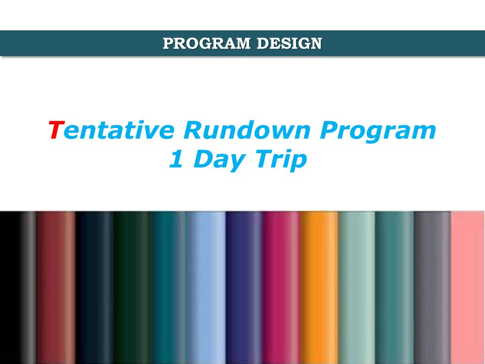 Tentative Rundown Program