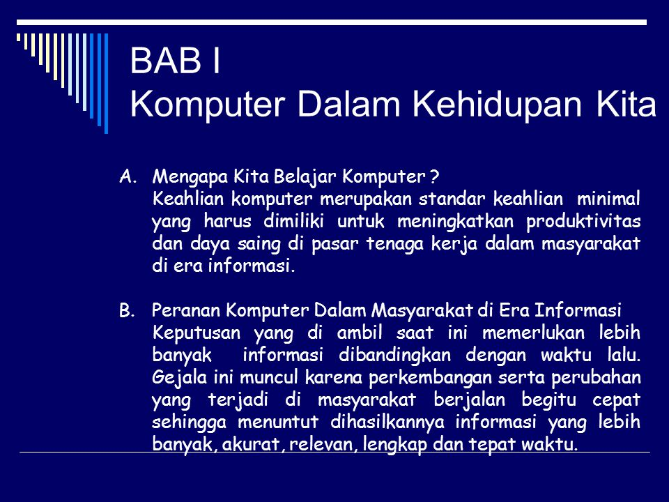 BAB I Komputer Dalam Kehidupan Kita