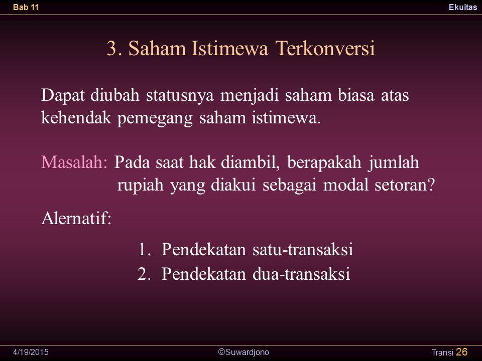3. Saham Istimewa Terkonversi