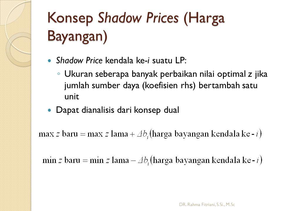 Konsep Shadow Prices (Harga Bayangan)
