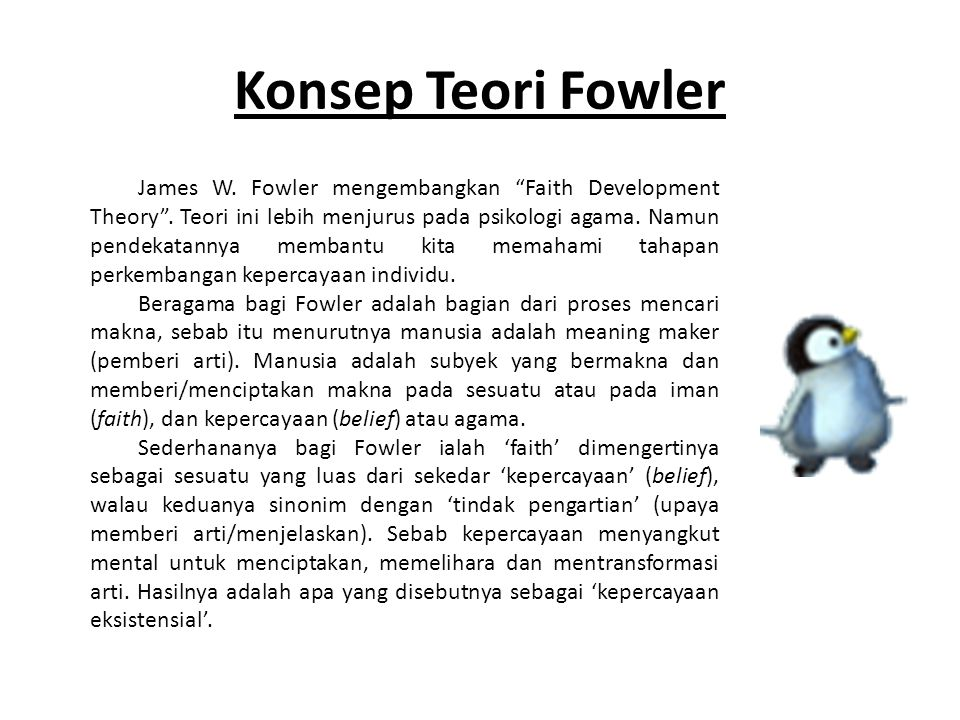 Konsep Teori Fowler
