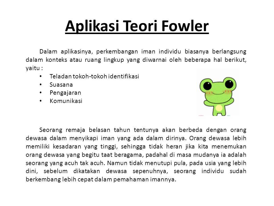Aplikasi Teori Fowler