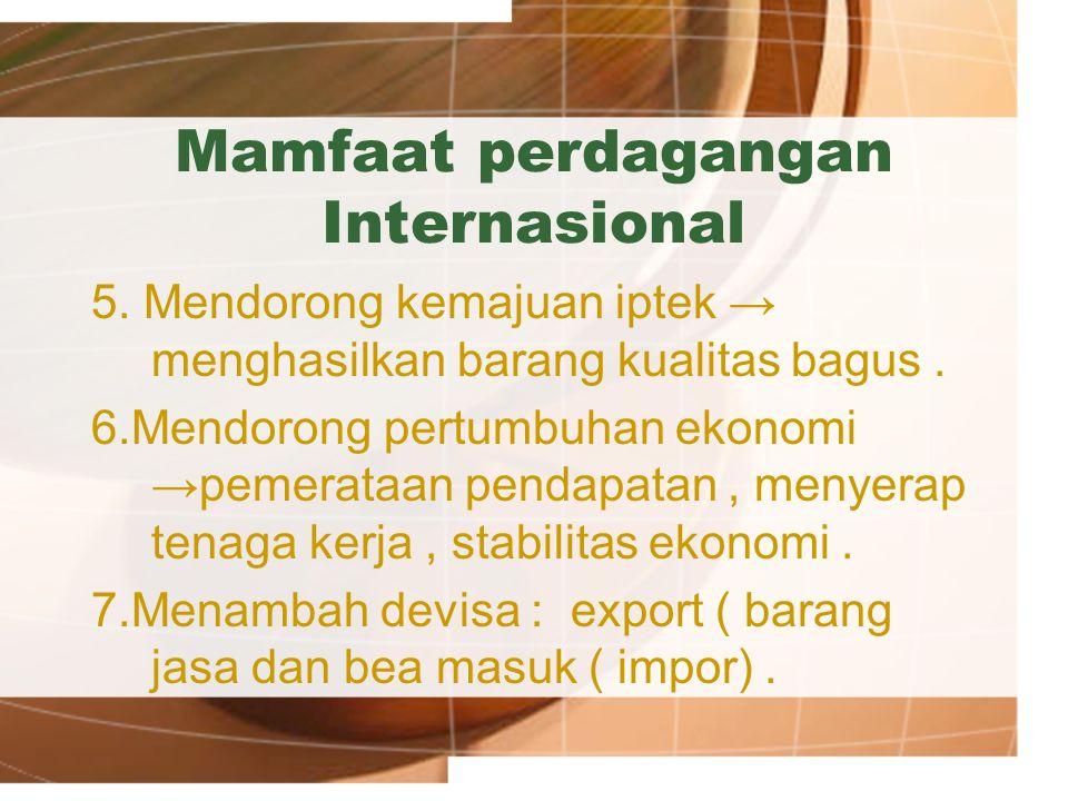 Mamfaat perdagangan Internasional