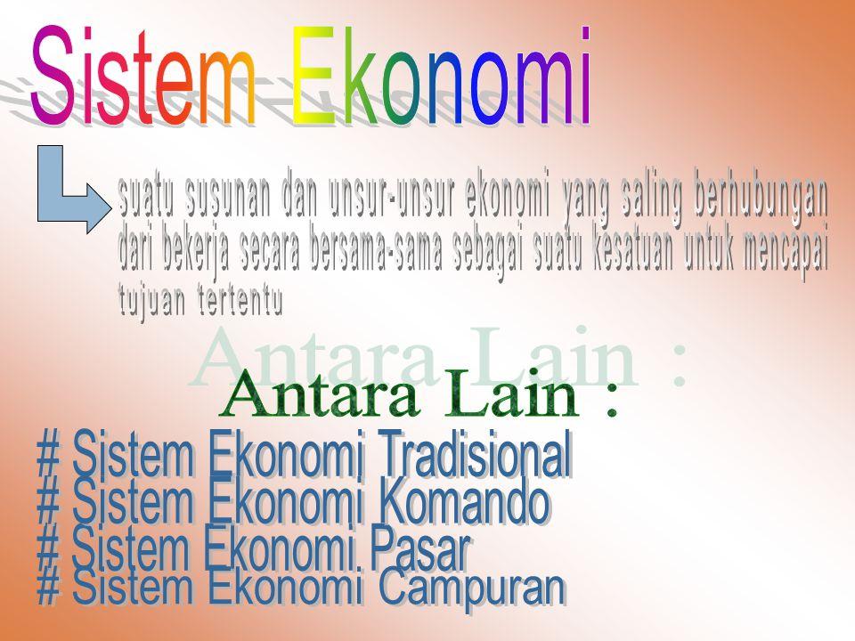 Antara Lain : Sistem Ekonomi