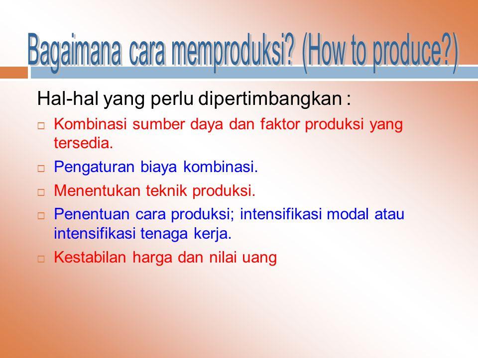 Bagaimana cara memproduksi (How to produce )
