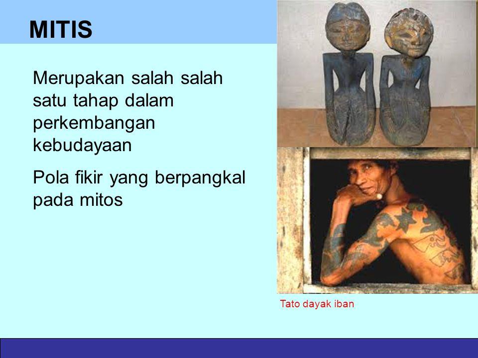 MITIS Merupakan salah salah satu tahap dalam perkembangan kebudayaan