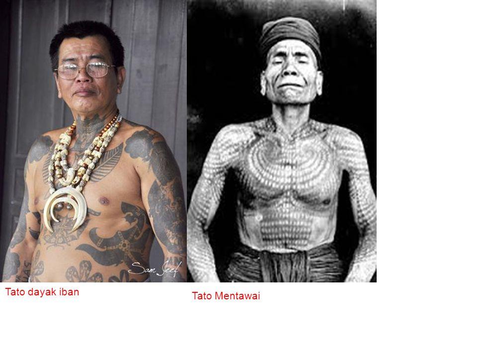 Tato dayak iban Tato Mentawai