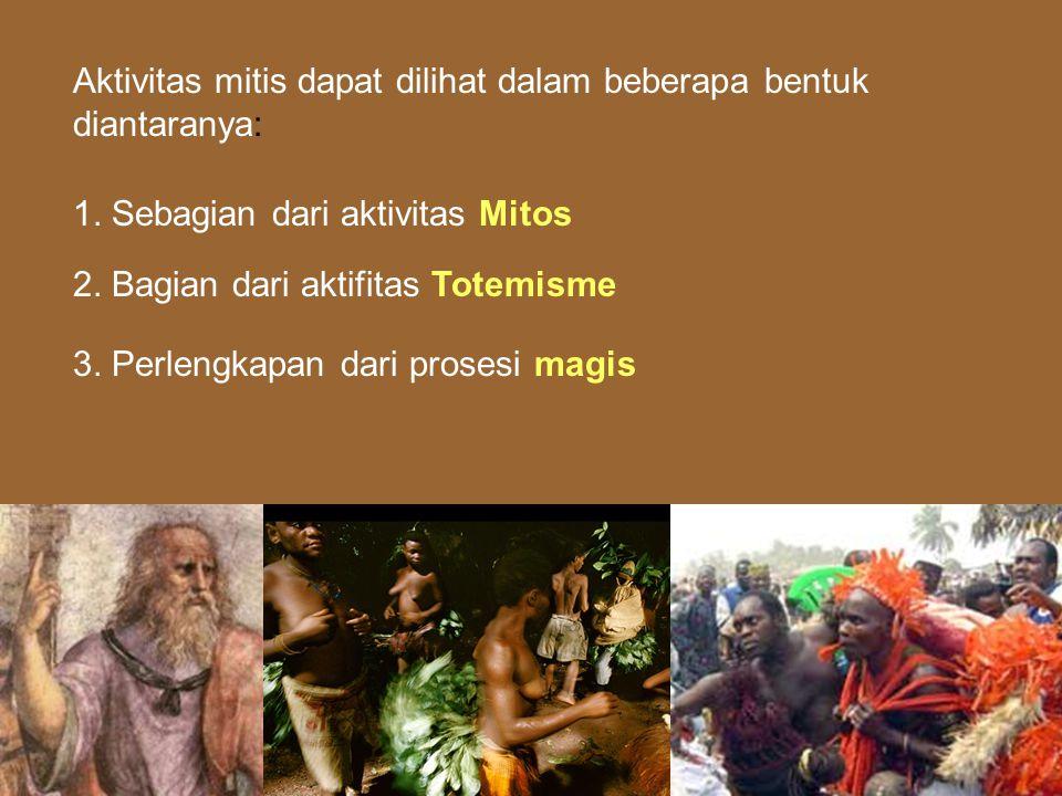 Aktivitas mitis dapat dilihat dalam beberapa bentuk diantaranya: