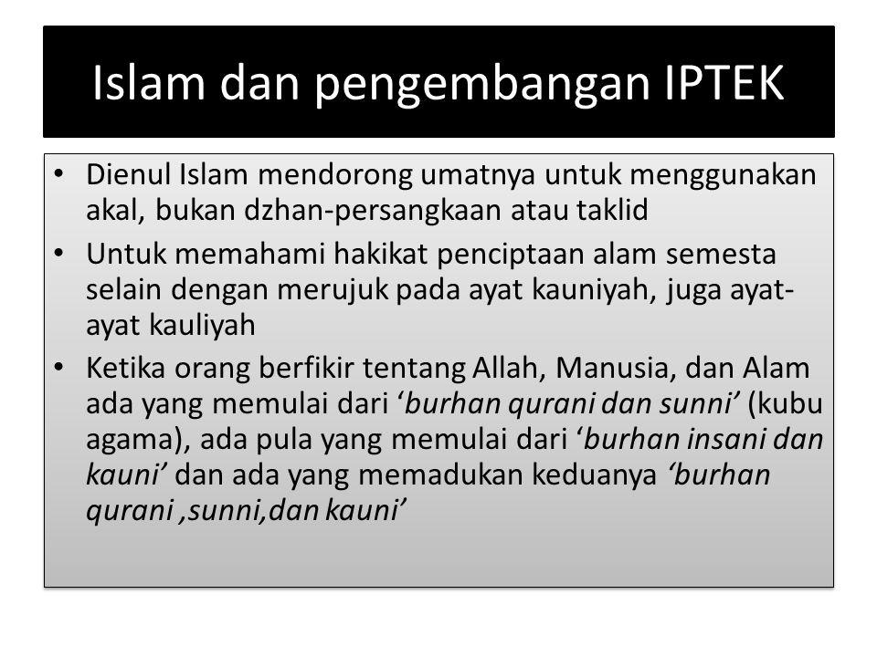 Islam dan pengembangan IPTEK
