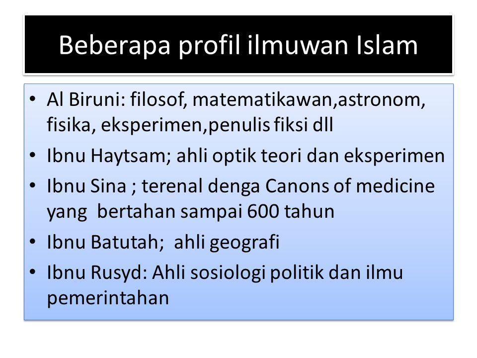 Beberapa profil ilmuwan Islam