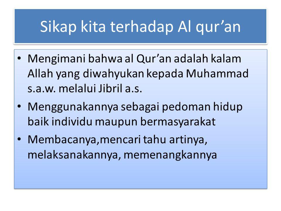 Sikap kita terhadap Al qur'an