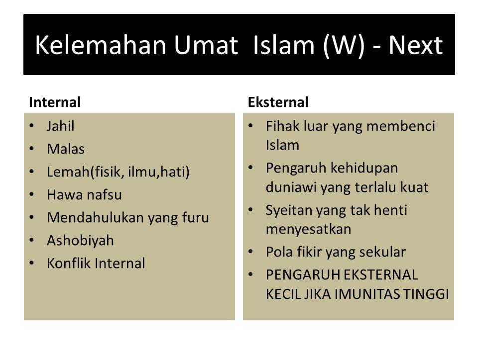 Kelemahan Umat Islam (W) - Next