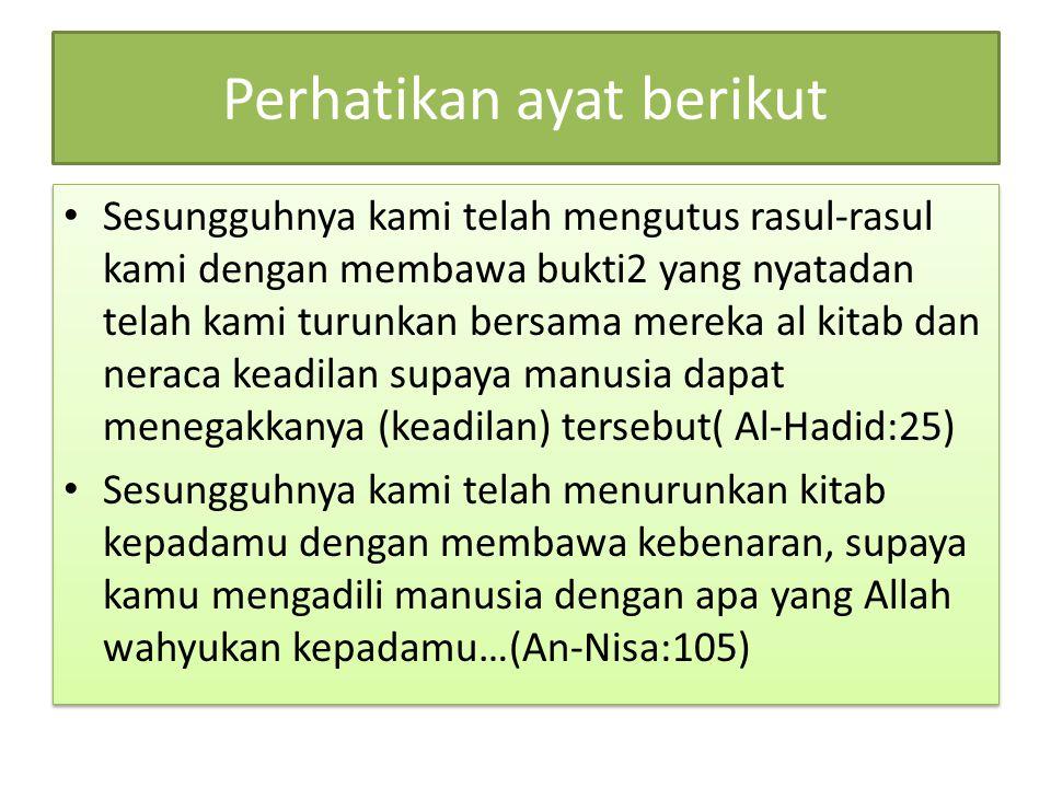 Perhatikan ayat berikut