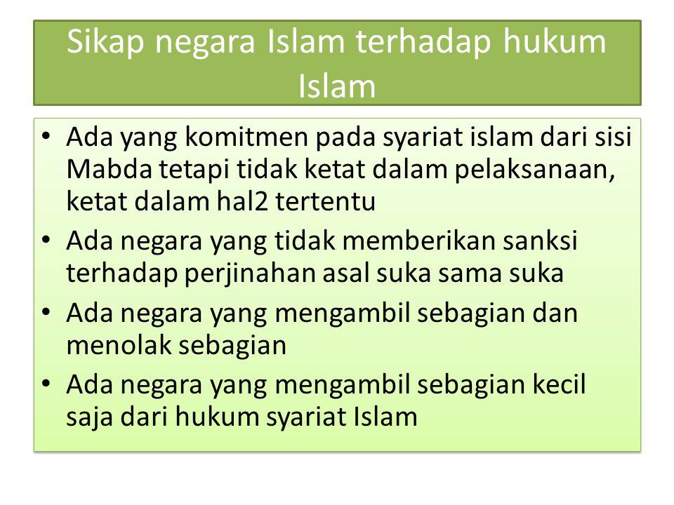 Sikap negara Islam terhadap hukum Islam