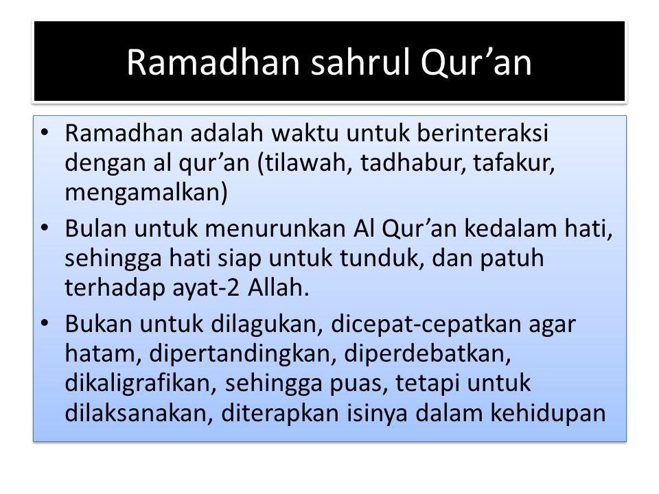 Ramadhan sahrul Qur'an