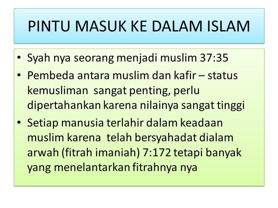 PINTU MASUK KE DALAM ISLAM