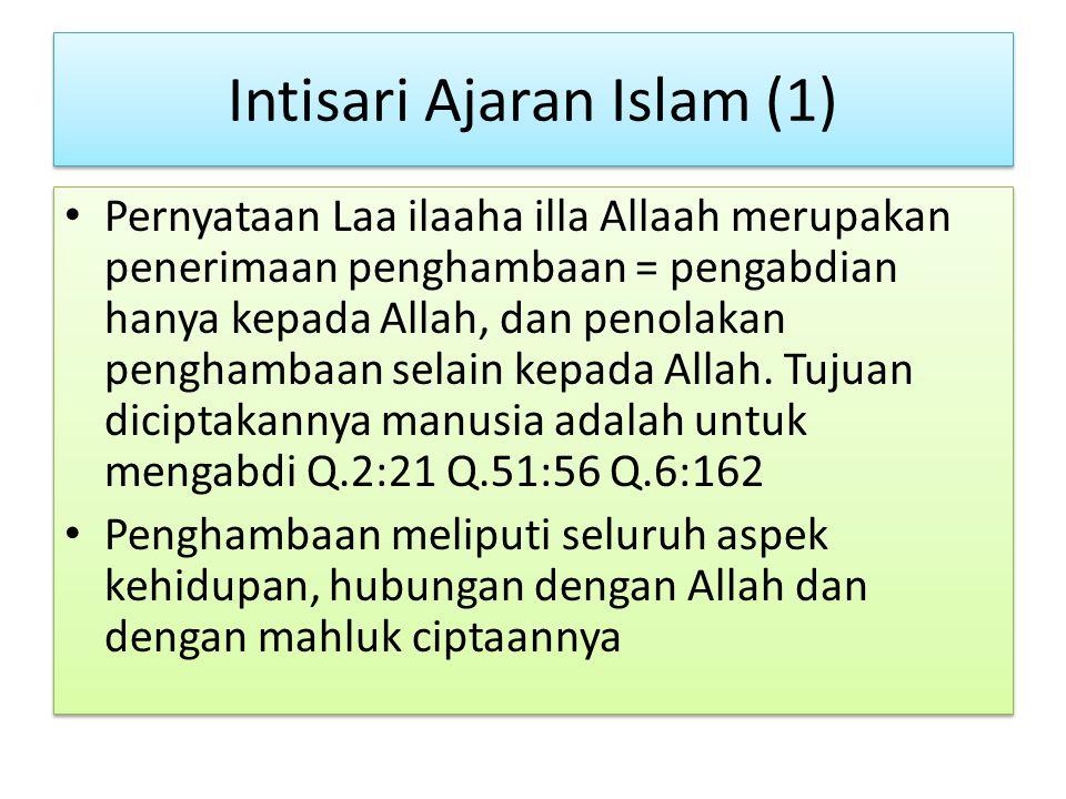 Intisari Ajaran Islam (1)