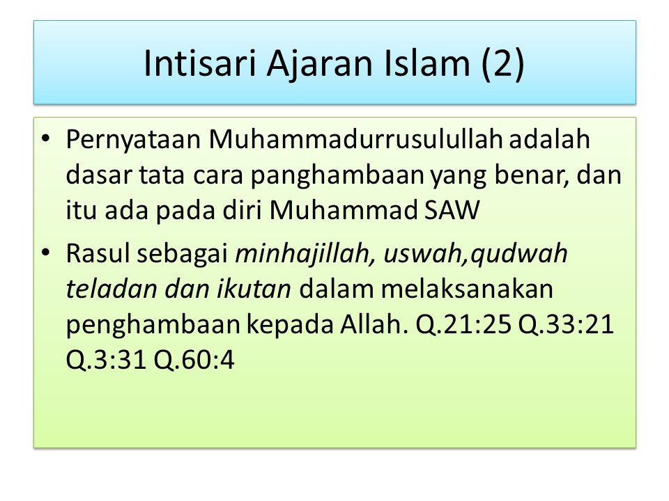 Intisari Ajaran Islam (2)