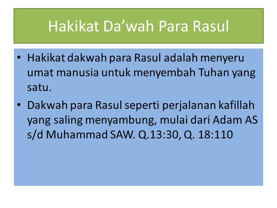 Hakikat Da'wah Para Rasul
