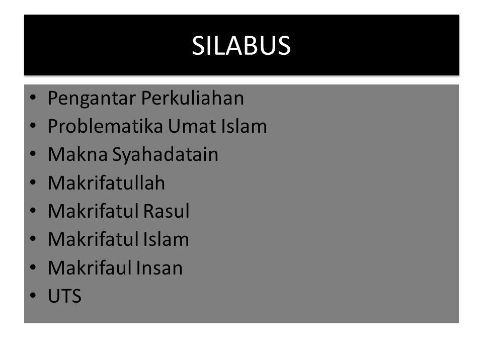 SILABUS Pengantar Perkuliahan Problematika Umat Islam