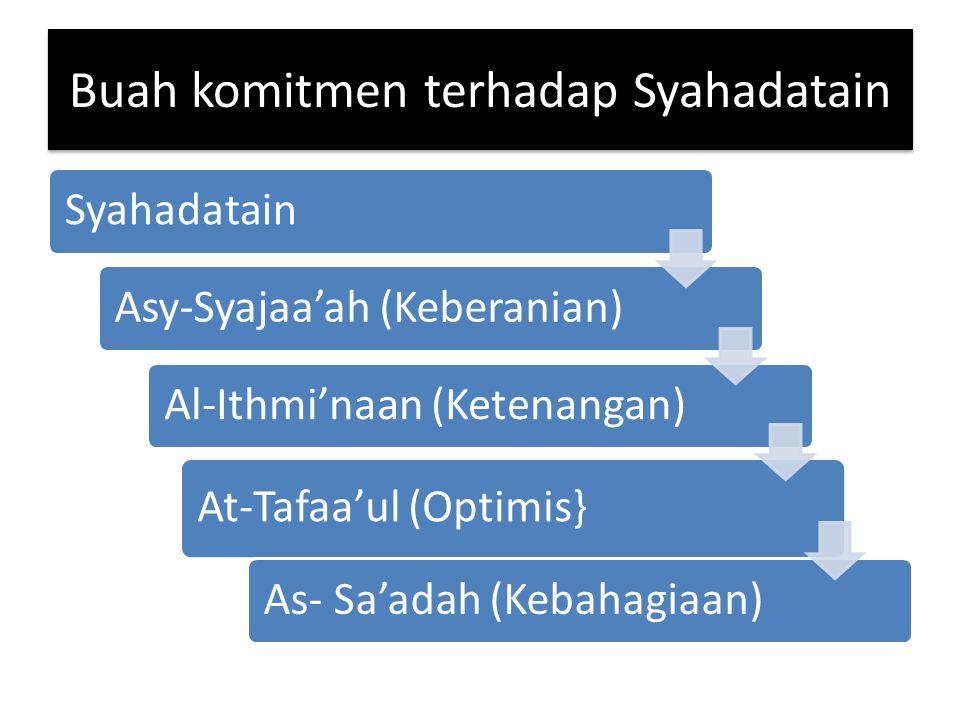 Buah komitmen terhadap Syahadatain