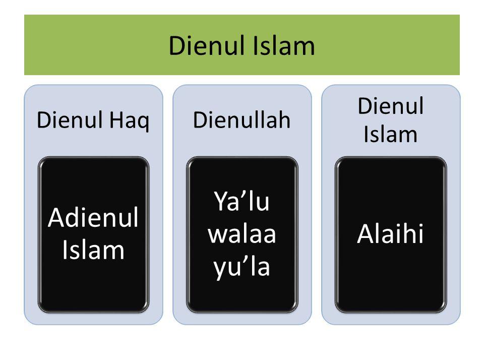 Dienul Islam Dienul Haq Adienul Islam Dienullah Ya'lu walaa yu'la