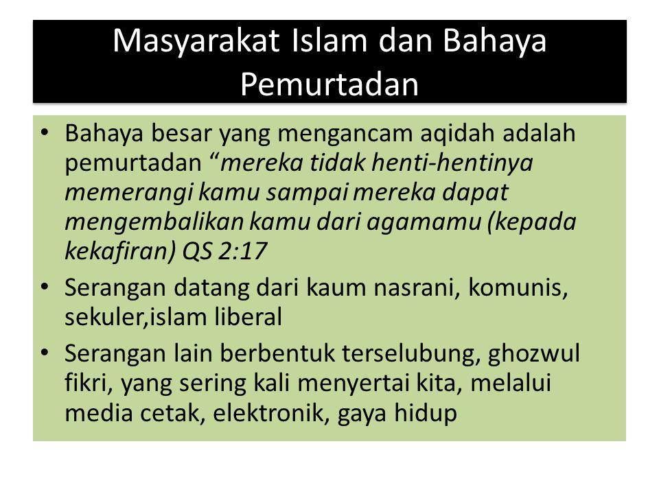 Masyarakat Islam dan Bahaya Pemurtadan