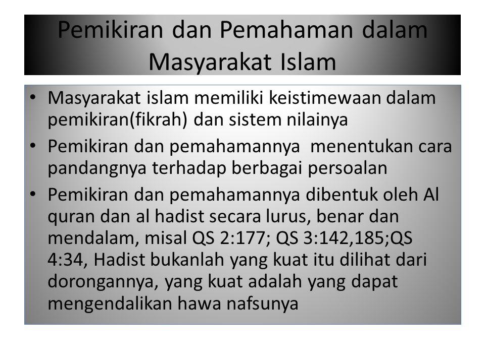 Pemikiran dan Pemahaman dalam Masyarakat Islam