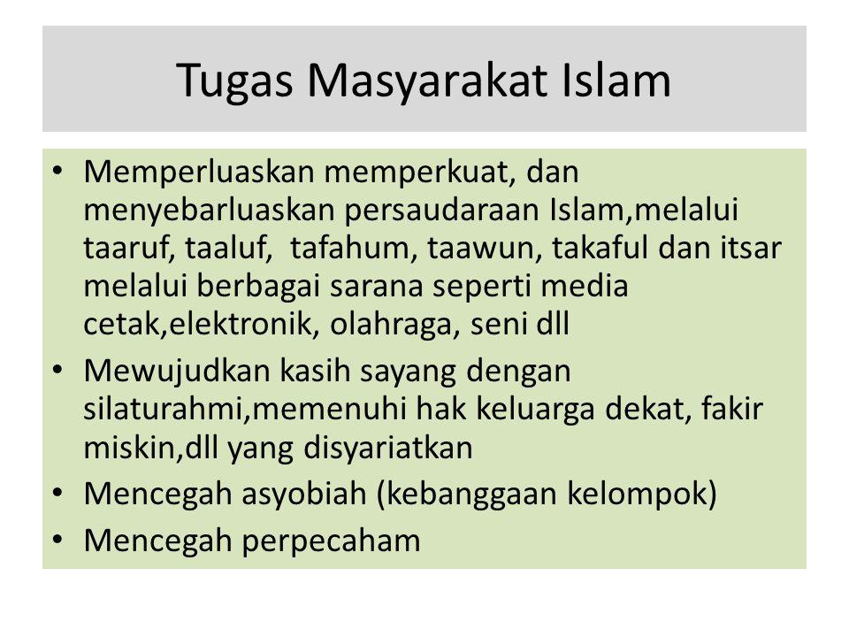 Tugas Masyarakat Islam