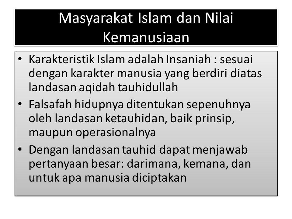 Masyarakat Islam dan Nilai Kemanusiaan