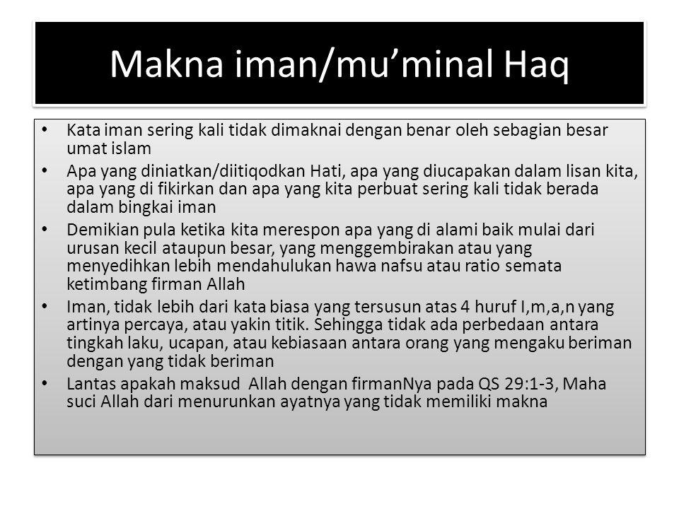 Makna iman/mu'minal Haq