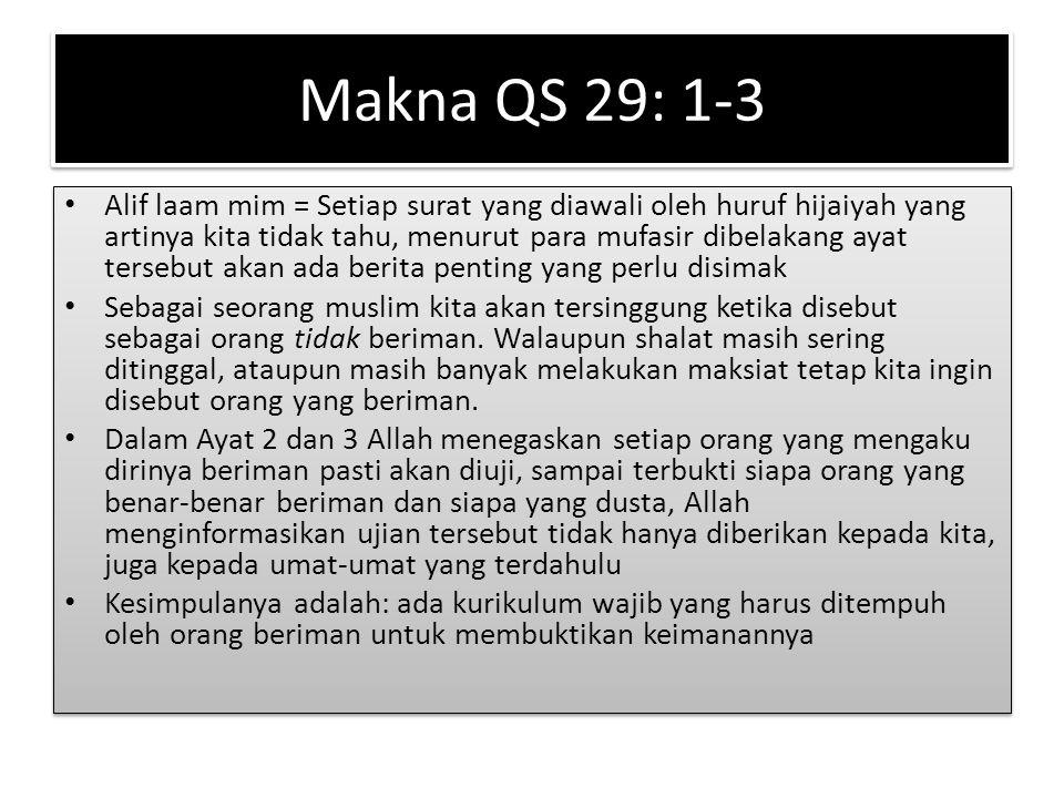 Makna QS 29: 1-3
