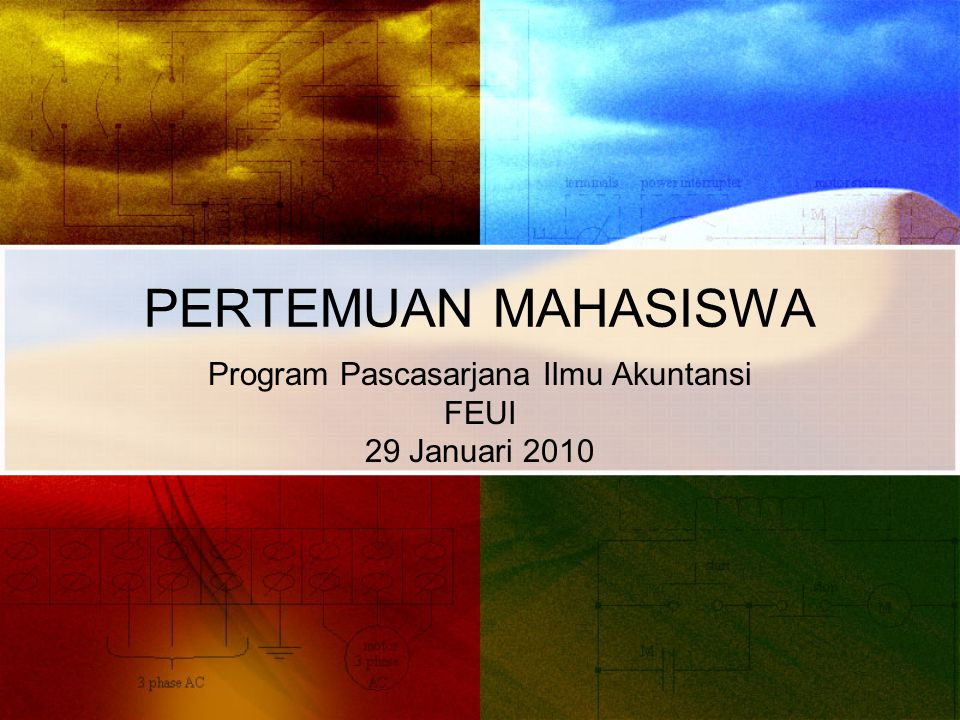 Program Pascasarjana Ilmu Akuntansi FEUI 29 Januari 2010
