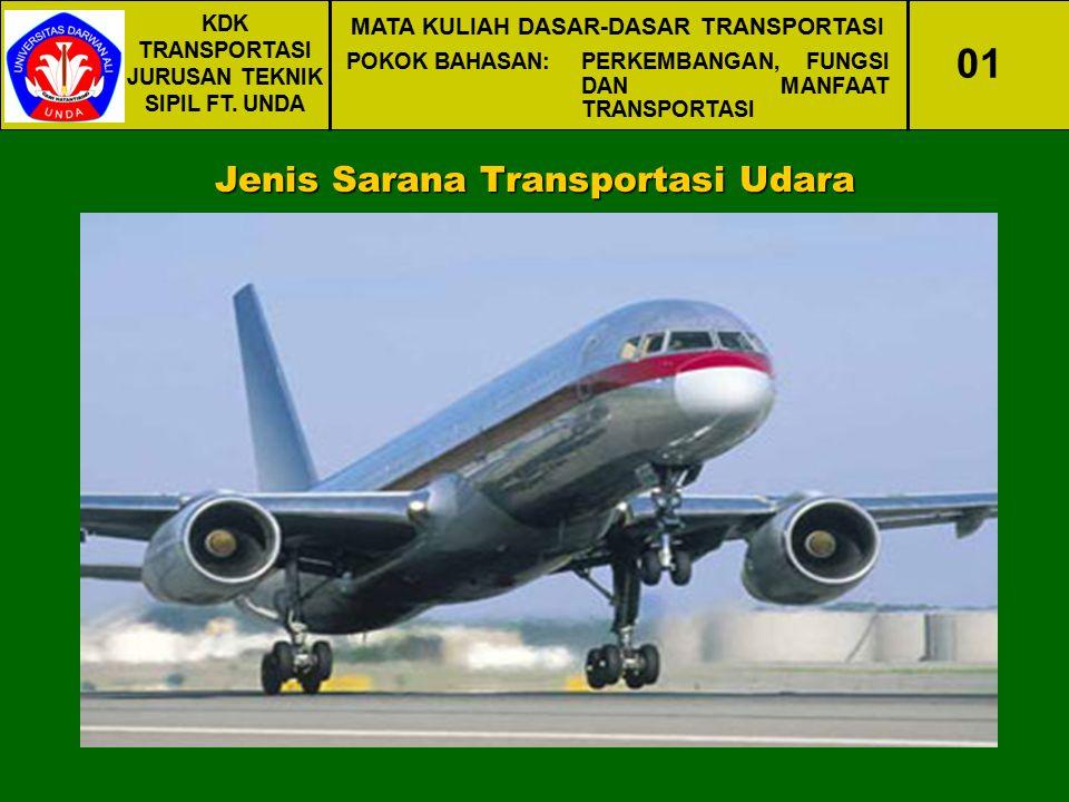 01 Jenis Sarana Transportasi Udara