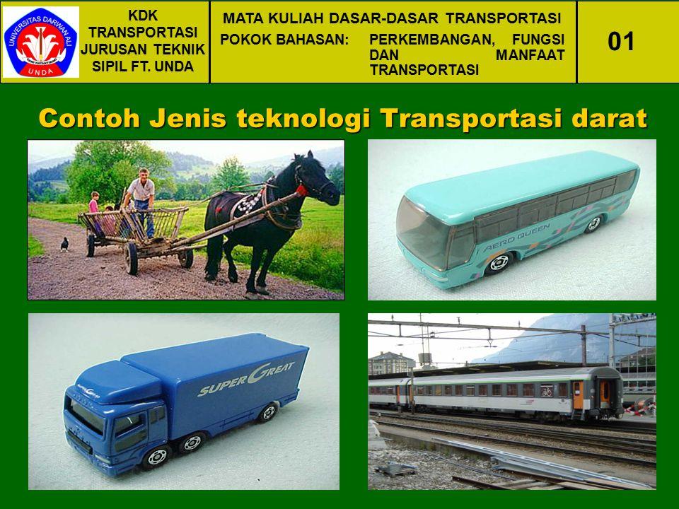 Contoh Jenis teknologi Transportasi darat