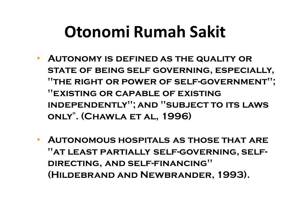 Otonomi Rumah Sakit