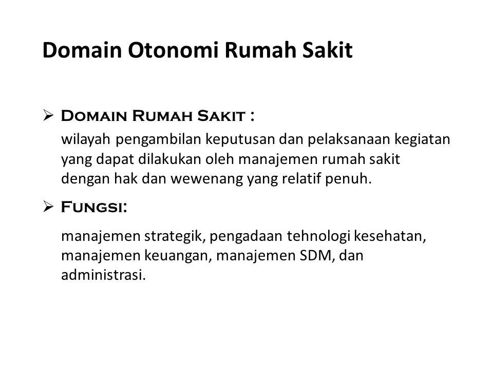 Domain Otonomi Rumah Sakit