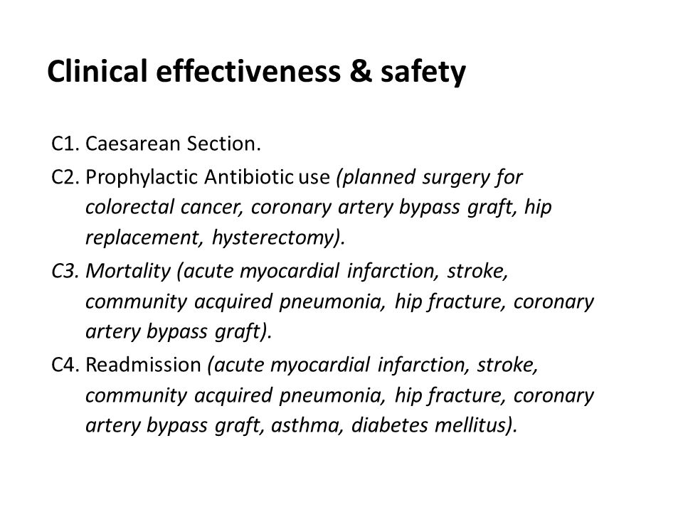 Clinical effectiveness & safety