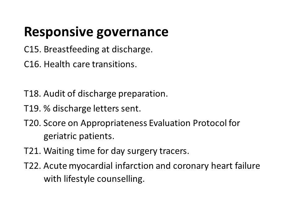Responsive governance