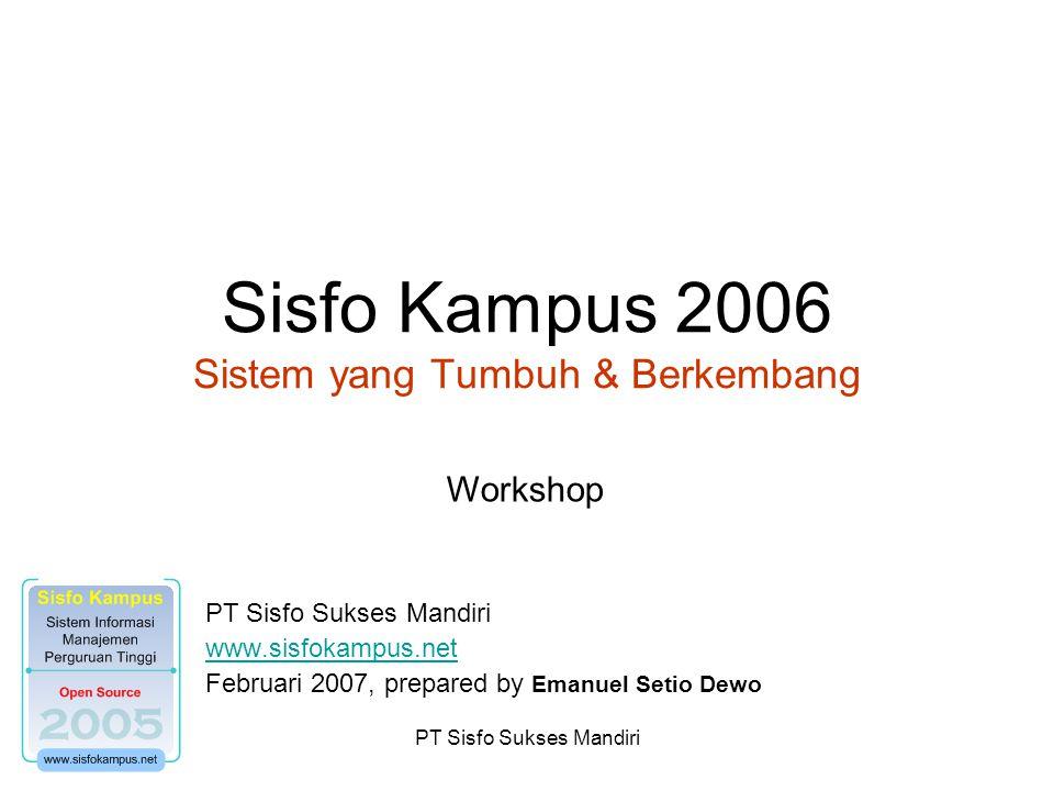 Sisfo Kampus 2006 Sistem yang Tumbuh & Berkembang