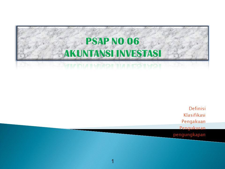 PSAP NO 06 AKUNTANSI INVESTASI