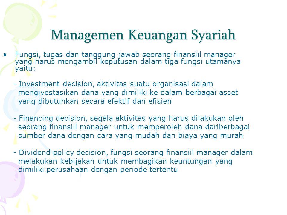 Managemen Keuangan Syariah