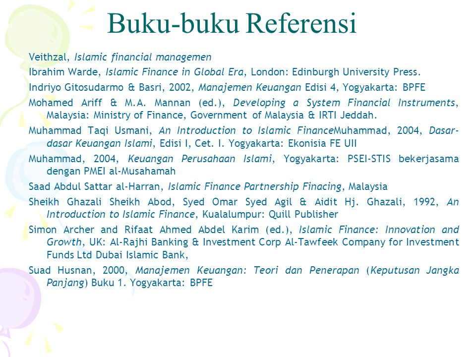 Buku-buku Referensi Veithzal, Islamic financial managemen