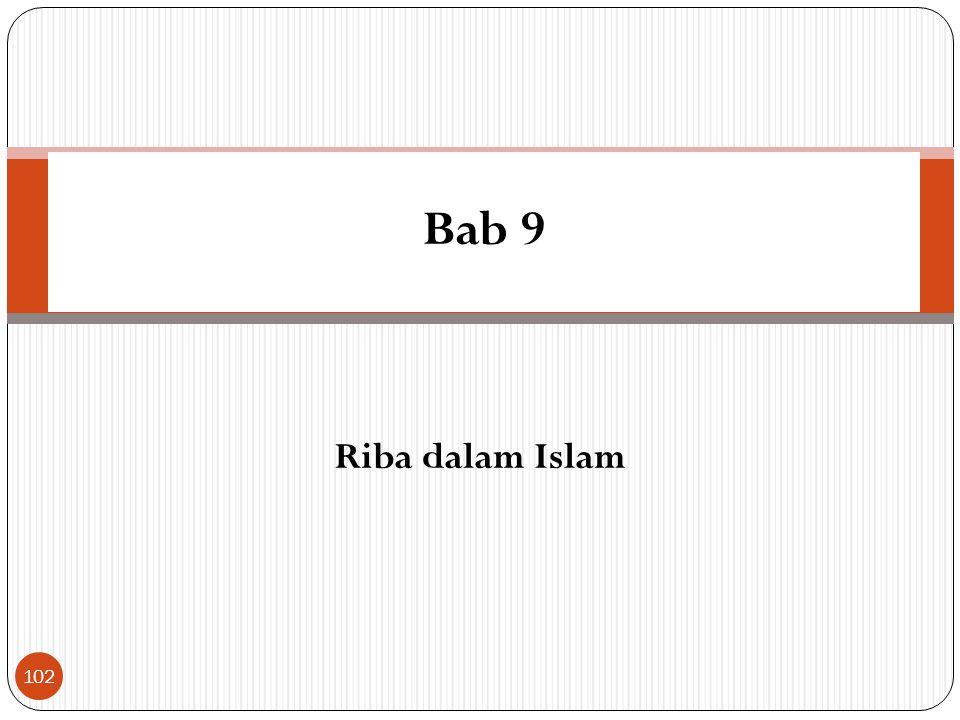 Bab 9 Riba dalam Islam
