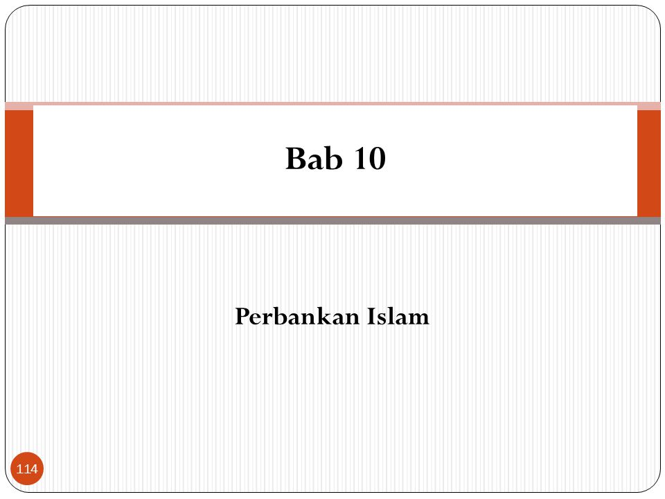 Bab 10 Perbankan Islam